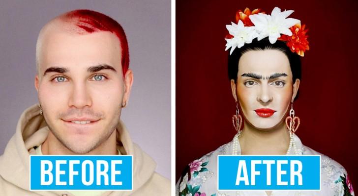 Una drag queen impersona alla perfezione le più grandi celebrità usando i trucchi del makeup