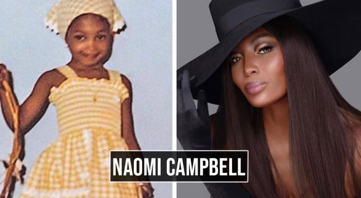 How some of the most famous supermodels in the world were as children: 8 photos show the differences between yesterday and today