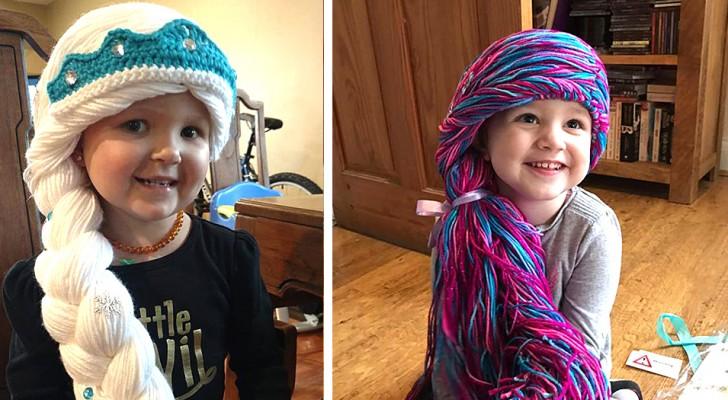 Un'infermiera dal cuore d'oro realizza delle splendide parrucche da principessa per le bimbe malate di cancro