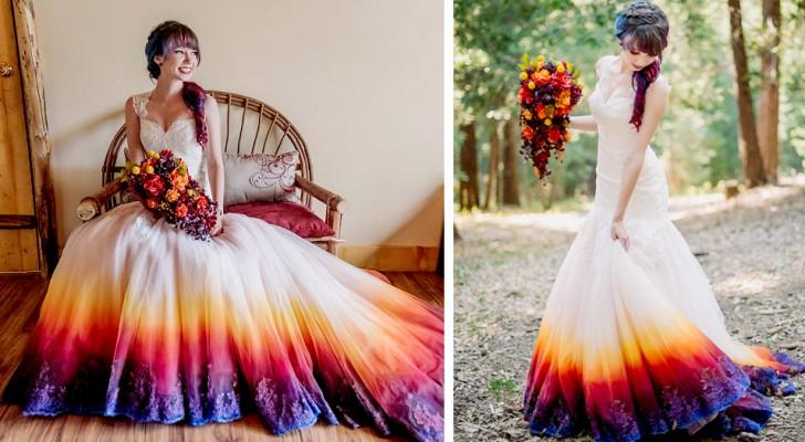 Une fille peint sa robe de mariée et les photos circulent sur le web : elle a maintenant son propre atelier de mode