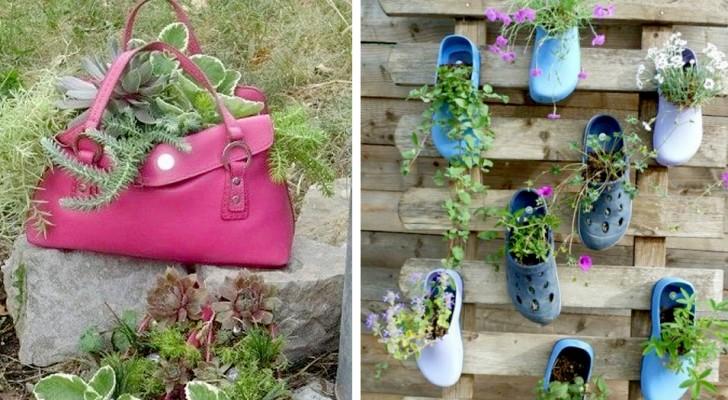 10 idéias criativas de reciclagem para dar um toque de originalidade ao seu jardim ou espaço ao ar livre