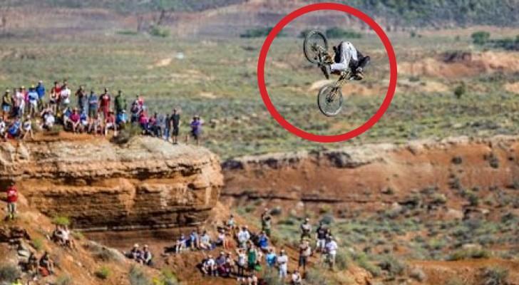 Uno dei salti mortali più coraggiosi della storia della mountain bike
