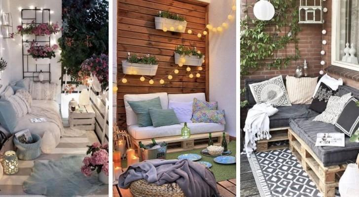 11 proposte tutte da scoprire per allestire un favoloso salottino in balcone riciclando i pallet