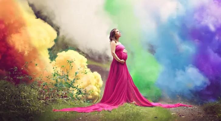Finalmente diventa mamma dopo 6 aborti spontanei: una spettacolare foto celebra il lieto evento