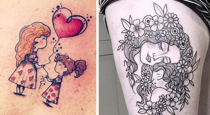 13 ontroerende moeder-dochter-tatoeages die alle schoonheid van deze speciale relatie belichamen