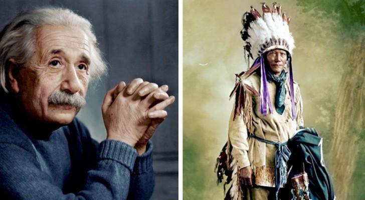 Ein junger Mann koloriert von Hand sehr alte Fotos und zeigt uns einige historische Persönlichkeiten mit anderen Augen