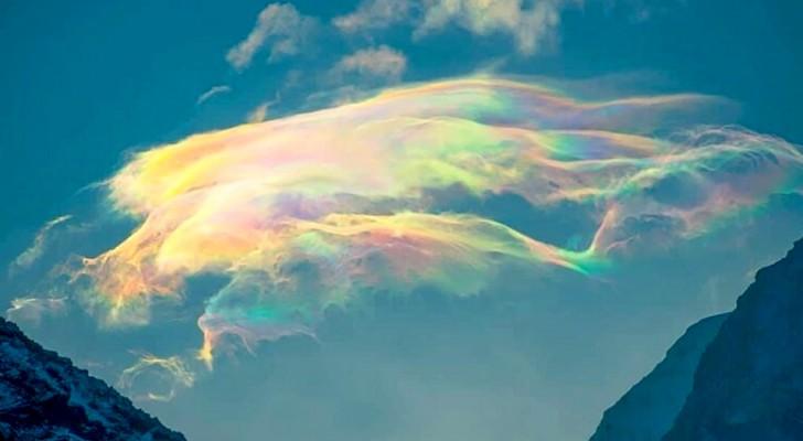 Un photographe professionnel a immortalisé un rare nuage arc-en-ciel au cœur de la froide Sibérie