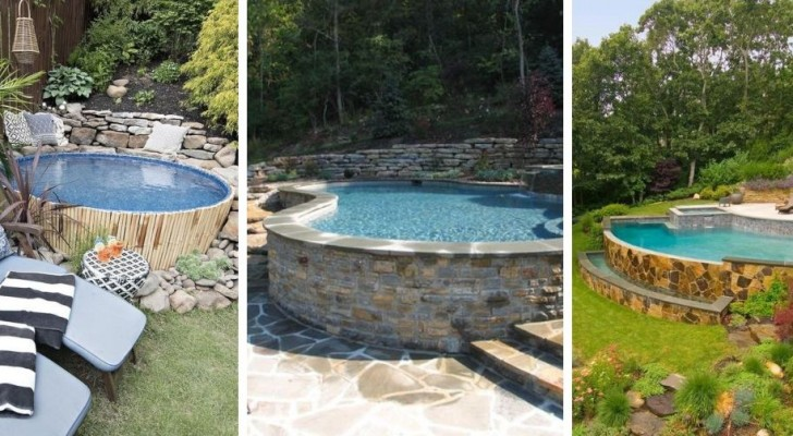 9 idées étonnantes pour créer une piscine en terrasse ou dans un jardin avec dénivelé