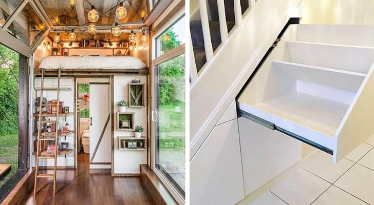10 soluzioni d'arredo intelligente che hanno reso pratici e spaziosi anche gli ambienti più piccoli