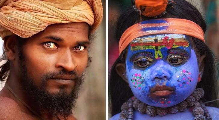 Lors d'un voyage en Inde, elle prend des photos de la population locale : les gens semblent parler avec leurs yeux