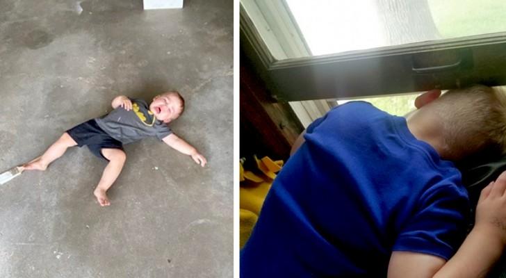 10 fotos que mostram que morar com uma criança pequena exige muita paciência