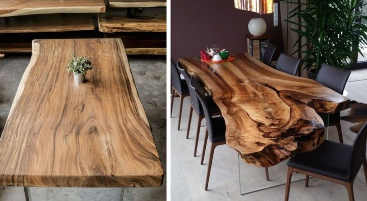 Tutte le dritte da seguire per realizzare un tavolo partendo da una lastra di legno grezzo