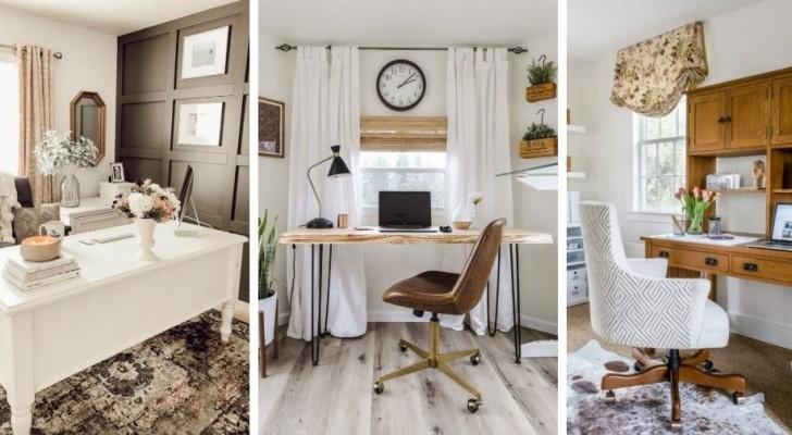 14 idee originali per arredare un ufficio moderno con scrivanie ed elementi rustici