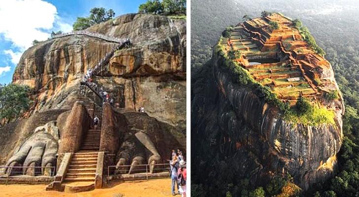 Sigiriya, la forteresse construite sur une énorme roche volcanique considérée comme la huitième merveille du monde