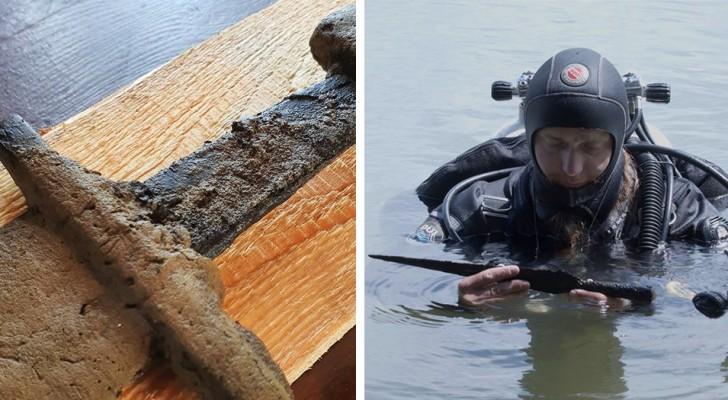 Ein Team von Archäologen fand ein altes mittelalterliches Schwert in einem See in Polen: Es stammt aus dem Mittelalter und ist 1000 Jahre alt