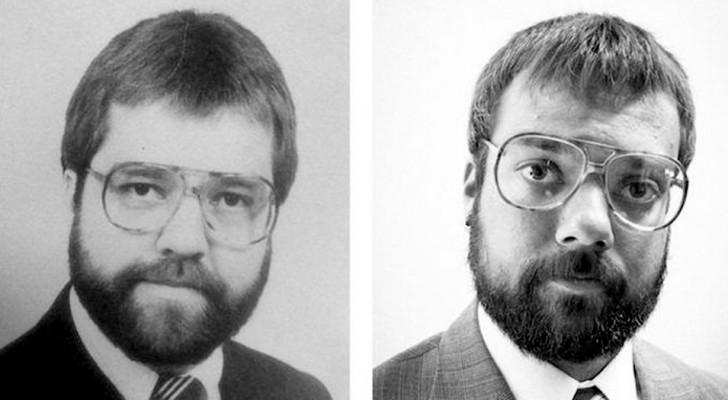 13 figli che hanno rispolverato vecchie fotografie e scoperto di essere identici ai loro genitori