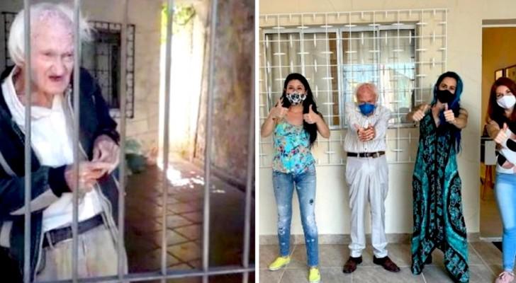 Um idoso vivia sozinho e em condições lamentáveis: os vizinhos reformam sua casa, restaurando a sua dignidade