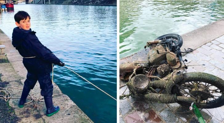 Deze 10-jarige jongen maakt de Seine schoon: hij heeft al 7 ton afval met magneten verwijderd