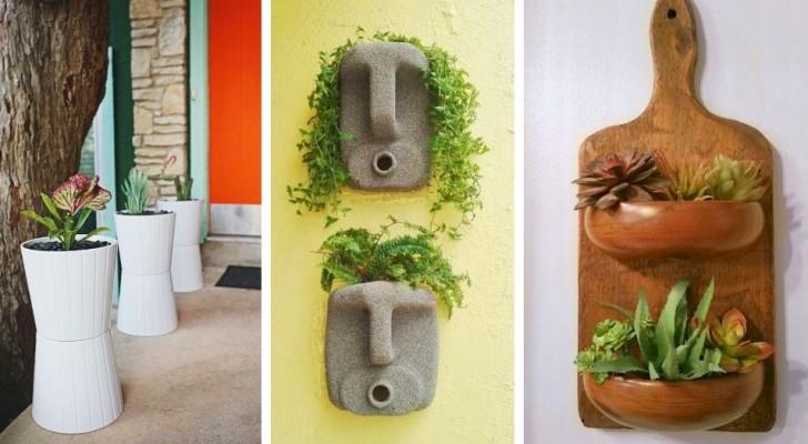 10 idee allegre e originali per decorare i vostri balconi con fioriere ricavate da oggetti riciclati