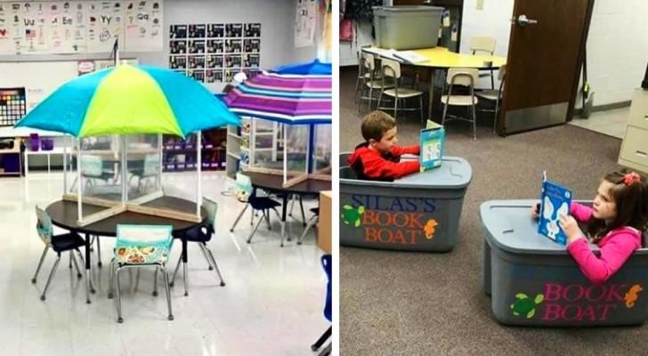 Distanciation à l'école : 10 enseignants ont rendu leur classe plus confortable pour leurs élèves
