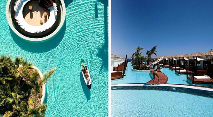 Op Kreta bevindt zich een resort met accommodaties aan het water die lijken op die van een tropisch eiland, maar veel goedkoper zijn