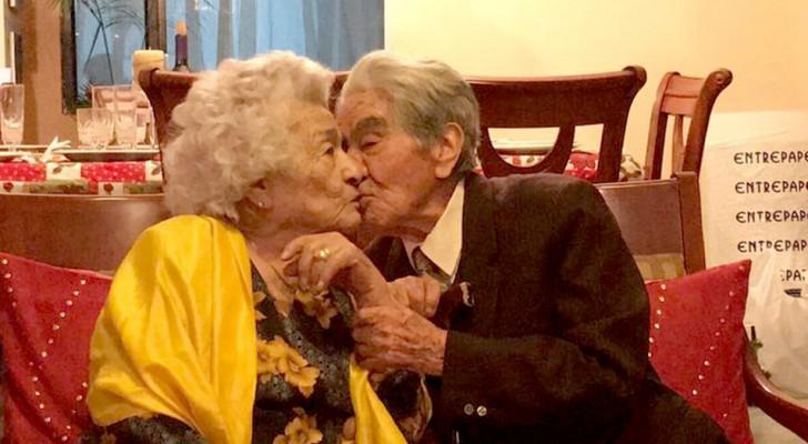 Hij is 110, zij 104: hun totale leeftijd maakt hen officieel tot het oudste stel ter wereld