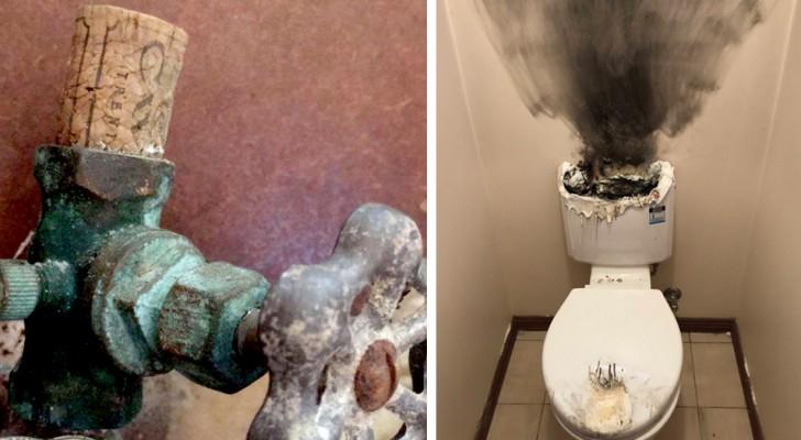 Un idraulico ha pubblicato le foto dei disastri casalinghi più assurdi di cui è stato testimone oculare