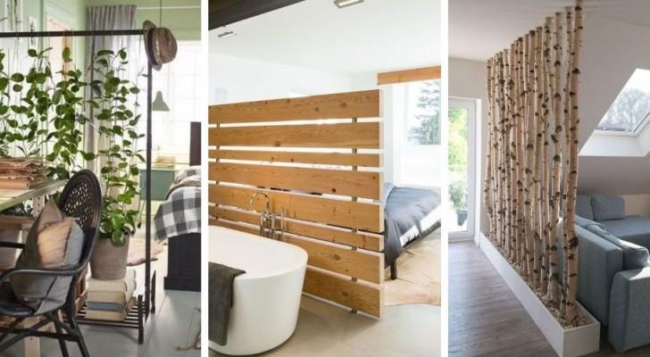 11 solutions innovantes pour diviser l'espace avec des murs originaux et pleins de style