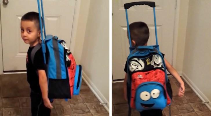 Sa mère le punit : il remplit son sac à dos de jouets et décide de quitter la maison
