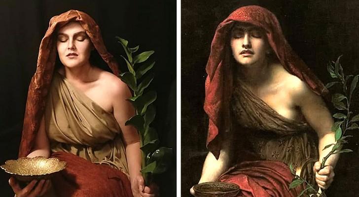 Dieses Mädchen interpretiert die Frauen der berühmtesten Gemälde neu: Ihre Selfies sind faszinierende Zeitreisen
