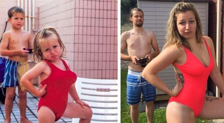 20 persone che hanno ricreato vecchie foto di famiglia con risultati a dir poco esilaranti