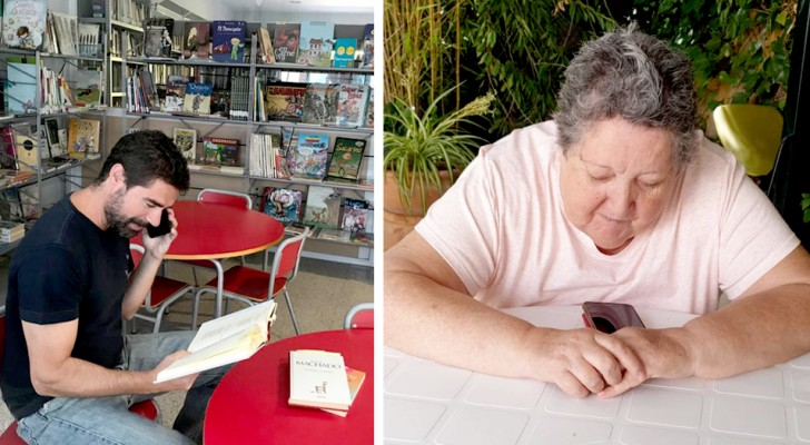 Una biblioteca legge storie al telefono agli anziani che vivono nelle case di riposo e si sentono soli