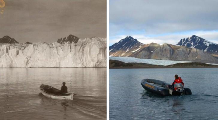 Een fotograaf vergelijkt na jaren dezelfde landschappen en laat zien hoe de klimaatverandering ze heeft verstoord