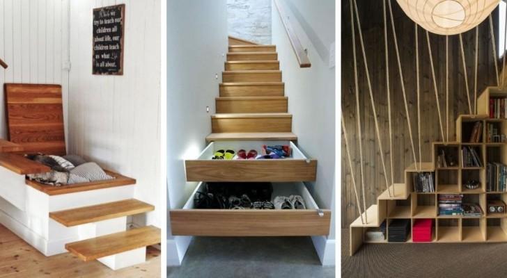 9 soluzioni strabilianti per ricavare spazio extra in casa sfruttando le scale