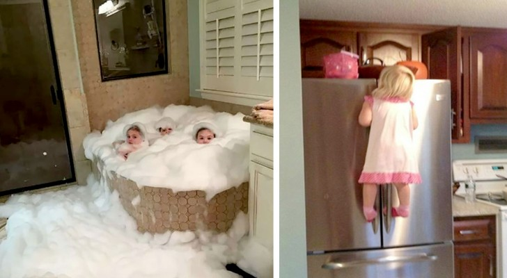 15 children who were left unsupervised in the house and caused a real disaster