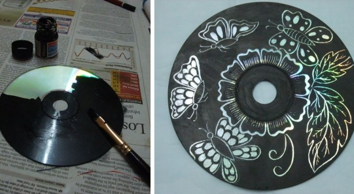 La tecnica semplicissima per trasformare i vecchi CD in fantastiche decorazioni