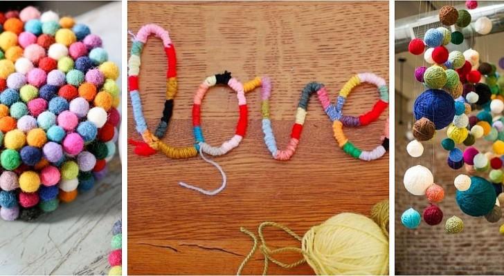 9 idee strepitose per decorare fai-da-te riciclando gli scampoli di lana in modo creativo