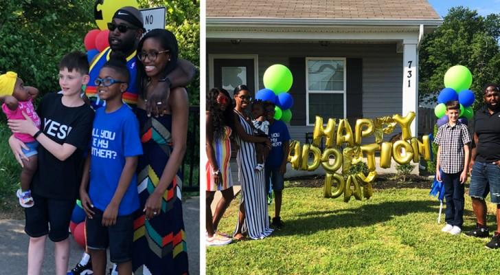 Ein 12-jähriger Junge wird offiziell von der Familie seines besten Freundes adoptiert: ein Traum, der sich erfüllt