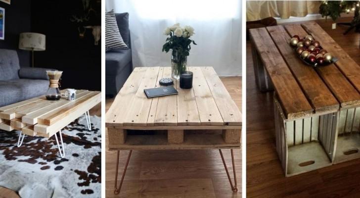 10 progetti semplici ed economici per realizzare fantastici tavolini da caffè fai-da-te