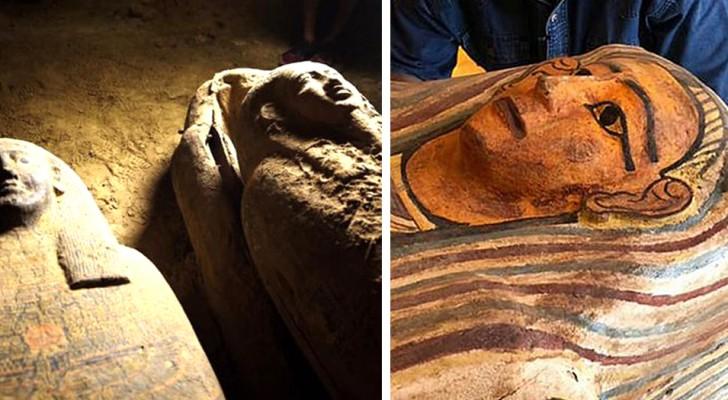 Egypte, 27 sarcofagen ontdekt die gedurende 2500 jaar nooit zijn geopend: het is een van de belangrijkste vondsten in zijn soort