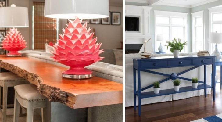 15 tables basses et consoles fantastiques pour décorer avec goût le derrière de vos canapés