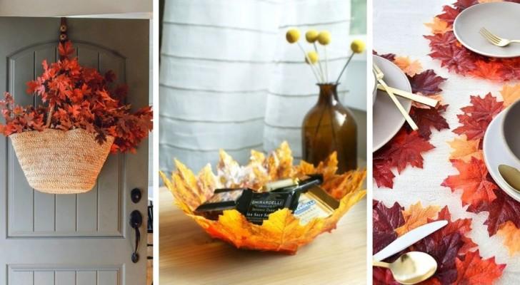 11 magnifiche decorazioni fai-da-te per celebrare l'autunno con le sue foglie colorate