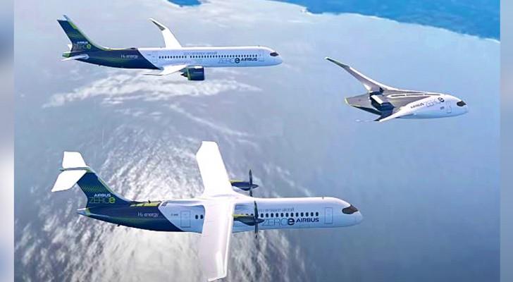 Airbus présente trois prototypes d'avions à hydrogène qui promettent zéro émission nocive