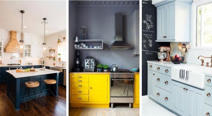 12 ottimi spunti per ridipingere i mobili della cucina con stile e senza spendere troppo