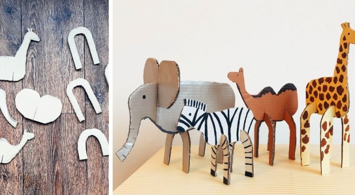 Animali di cartone: il lavoretto per bambini semplice e pieno di creatività