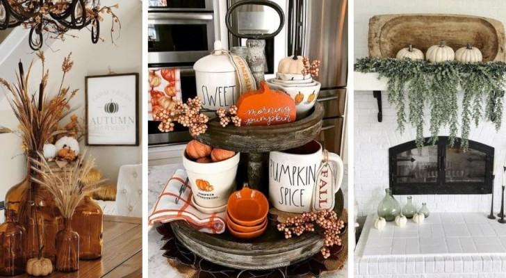 Autunno in cucina: 12 bellissime decorazioni fai da te con foglie, rame, zucche e molto altro