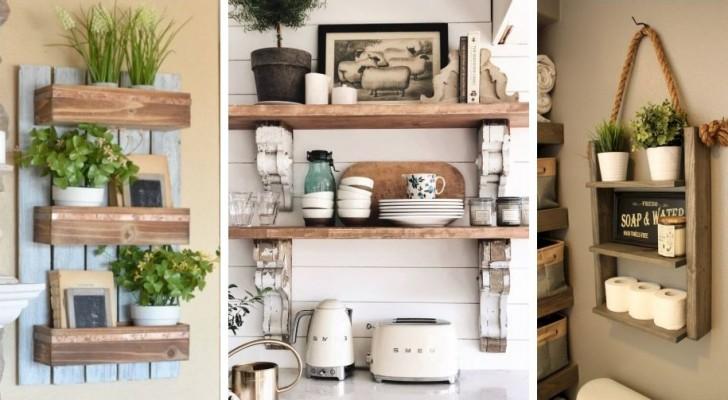 10 spunti irresistibili per decorare mensole e scaffali creando un perfetto stile