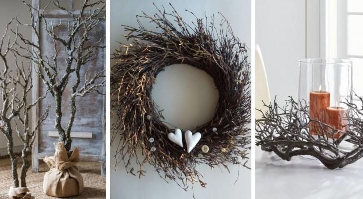 10 idee fantasiose per decorare con i rami secchi in perfetto stile autunnale