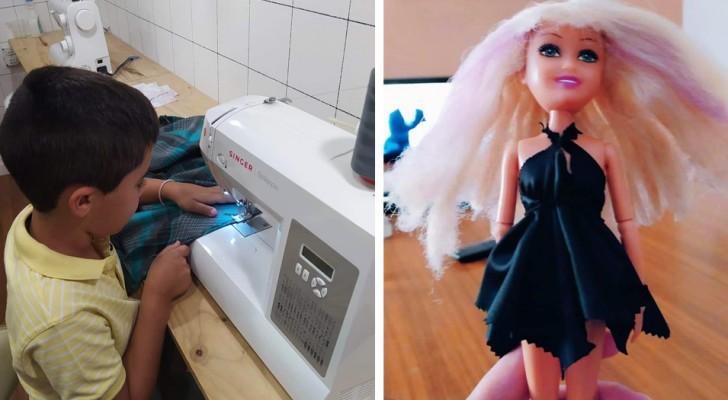 """""""Du bist ein Mädchen"""": Mit 6 Jahren wird er in der Schule gemobbt, weil er es liebt, Puppenkleider anzufertigen"""