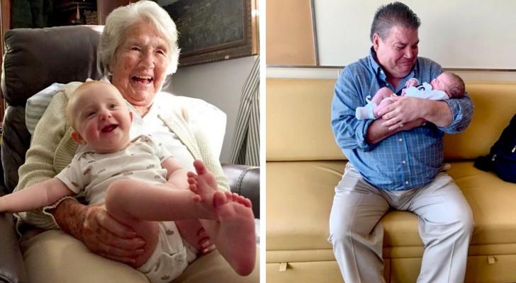 16 fotos que testemunham o profundo vínculo que nasce entre um neto e seus avós
